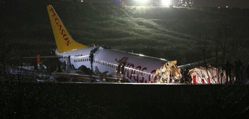 ارتفاع حصيلة ضحايا تحطم طائرة فى إسطنبول