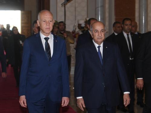 رئيس الجمهورية يتحادث على انفراد مع نظيره الجزائري