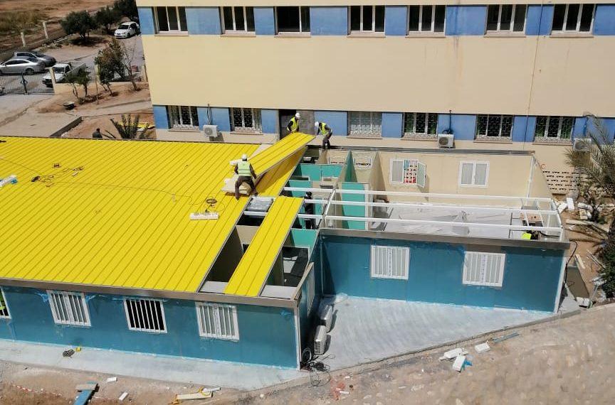الاسبوع القادم ..تسليم الوحدة الصحية covid 19 لمستشفى سهلول (صور)