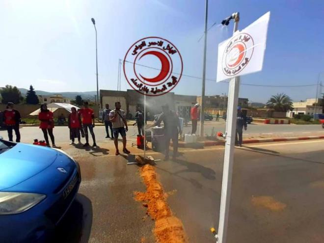 جندوبة: تركيز ستار مائي لتعقيم السيارات بمدخل مدينة غار الدماء