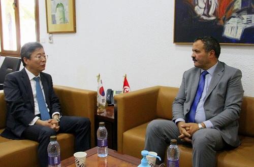 سفير كوريا الجنوبية بتونس يعبر عن استعداد بلاده تقديم الدعم المادي لتونس