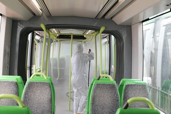 نقل تونس تركز منظومة حينية لتعقيم الحافلات
