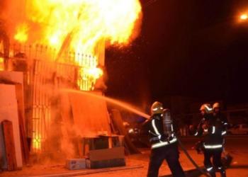 السيطرة على حريق بمستودع حافلات الشركة الجهوية للنقل بنابل