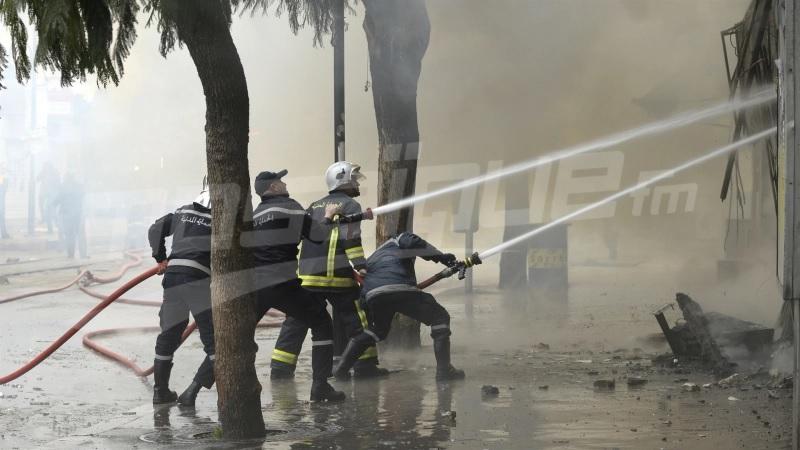 حريق هائل بمصنع لصناعة الورق بالنفيضة