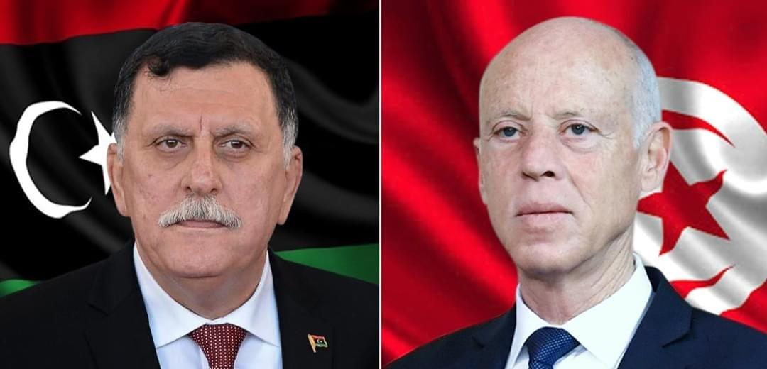 سعيّد يجدد للسراج تمسك تونس بالشرعية الدولية