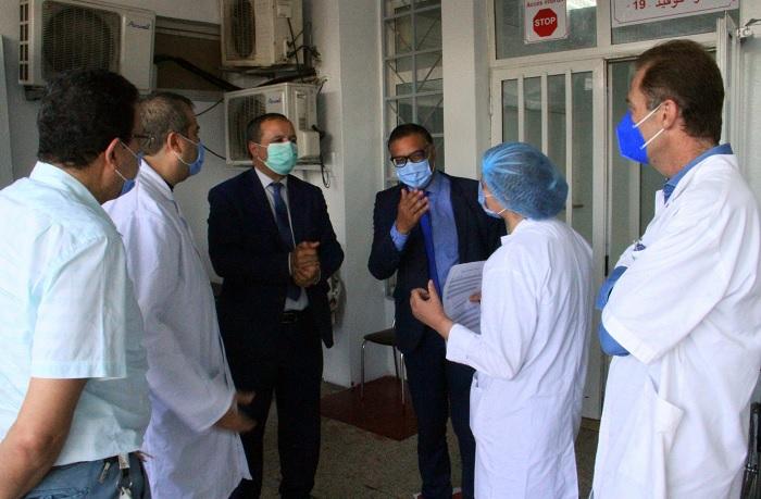 وزير الصحة يطلع على مسلك كوفيد-19 للنساء الحوامل بمركز التوليد وطب الرضيع