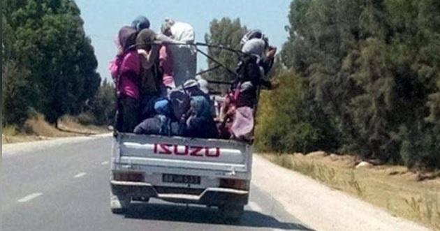 سيدي بوزيد: إصابة 9 عاملات فلاحة ورجلين في حادث مرور بمنطقة البراقة