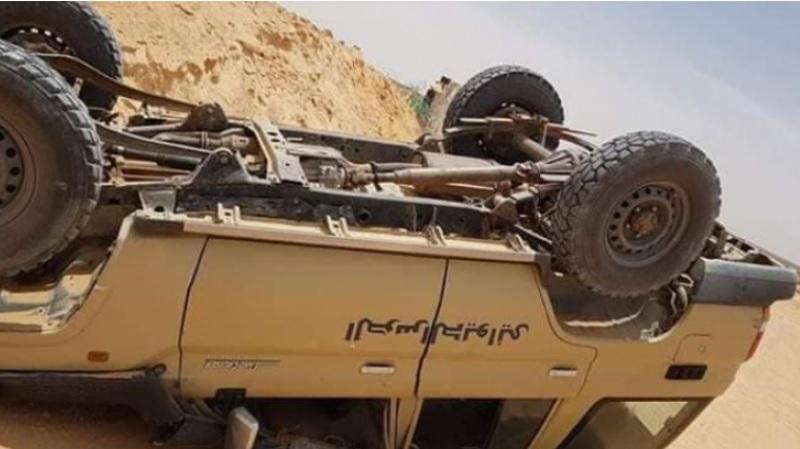 تطاوين: انقلاب سيارة للحرس الديواني أثناء عملية مطاردة