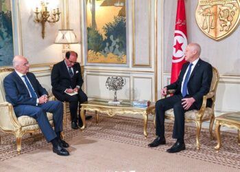 الوضع في ليبيا ..محور لقاء قيس سعيد بوزير الخارجية اليوناني