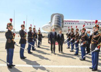 وصول رئيس الجمهورية قيس سعيّد إلى فرنسا