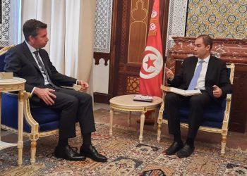 ماذا في لقاء وزير المالية  والسفير التركي بتونس؟