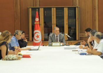 وزير أملاك الدّولة يشرف على اجتماع  حول ميزانية الوزارة لسنة 2021