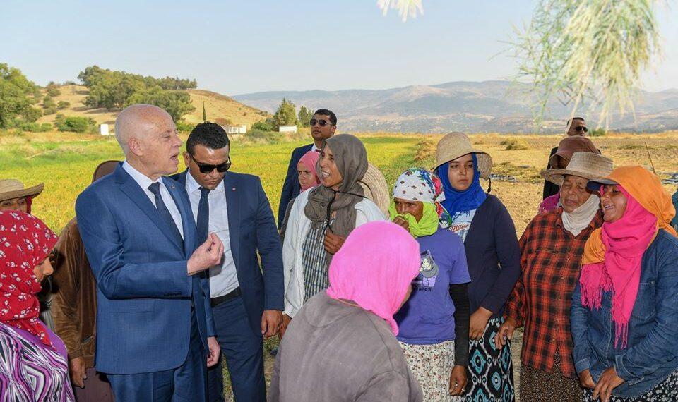قيس سعيّد يزور منطقة المرايدية في ولاية جندوبة