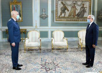 رئيس الدولة يتحادث مع رئيس مركز جامعة الدول العربية بتونس