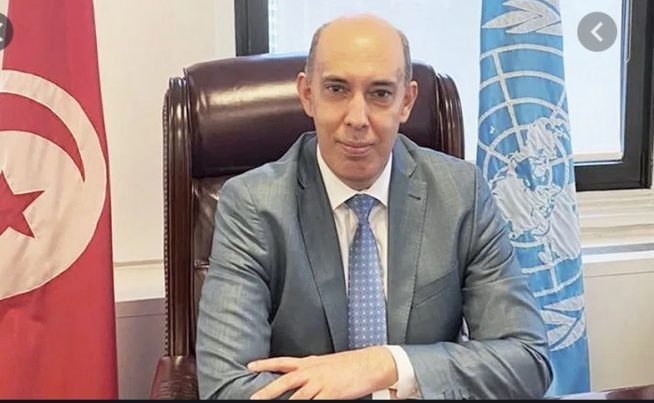 """سفير تونس في الأمم المتّحدة: 'أستقيل من منصبي . لم أعد أثق بقيس سعيد """""""