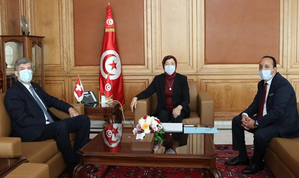 استرجاع الأموال المنهوبة محور لقاء وزيرة أملاك الدولة بسفير سويسرا بتونس