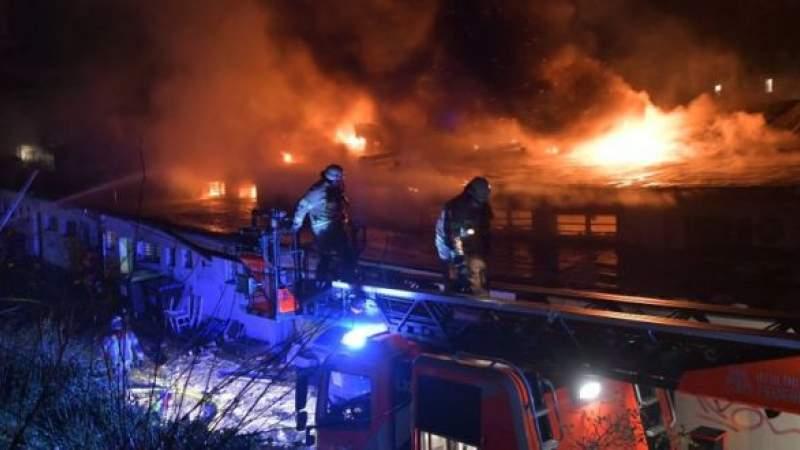 ألمانيا: حريق ضخم في محطة مترو أنفاق برلين