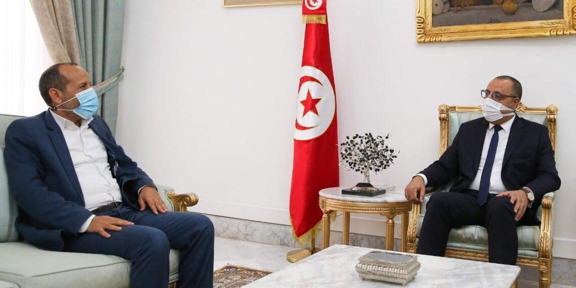 هشام المشيشي يلتقي نائب حركة النهضة عن ولاية الكاف مختار اللموشي