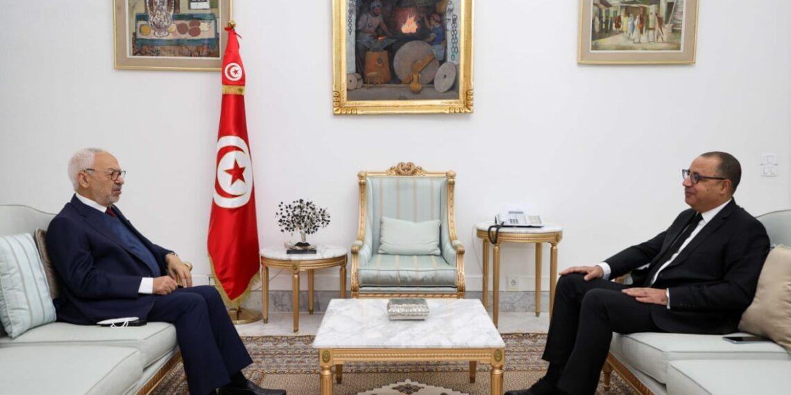 القصبة: رئيس الحكومة يلتقي راشد الغنوشي