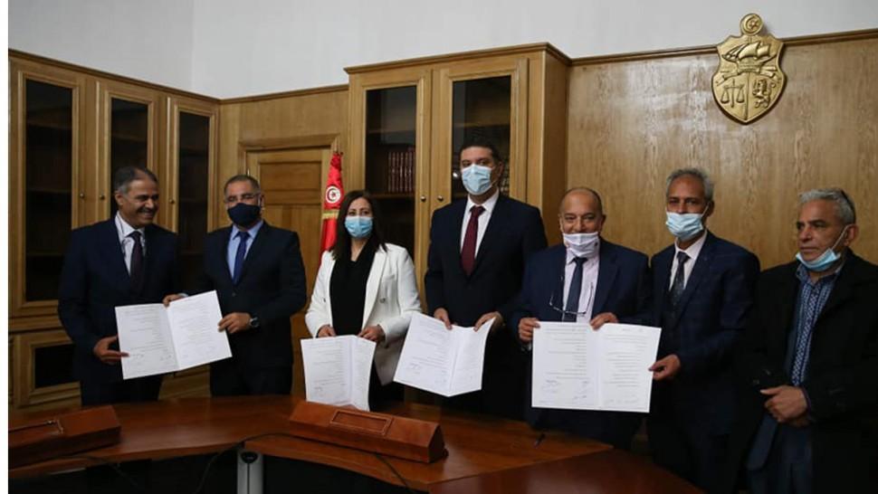 امضاء اتفاق بين رئاسة الحكومة وجامعة أعوان وزارة العدل