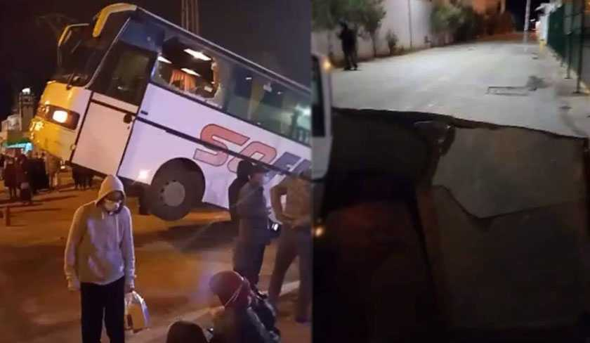 سقوط حافلة في حفرة: وزارة التجهيز توضح
