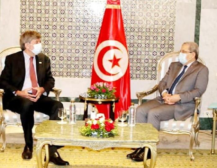 الجرندي يناقش ملف الأموال المنهوبة مع سفير سويسرا بتونس