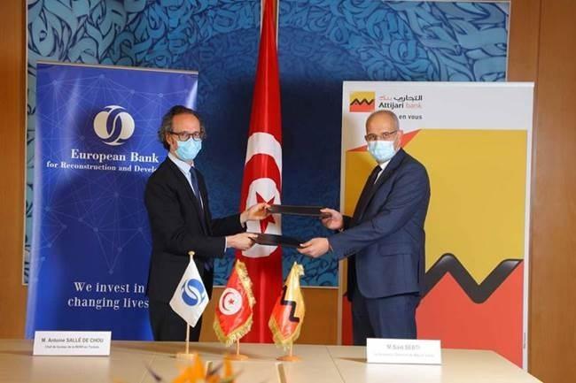 البنك الأوروبي لإعادة الاعمار والتنمية يوقع اتفاقية تقاسم مخاطر مع التجاري بنك تونس