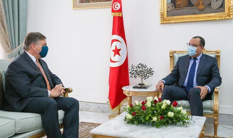 خلال لقاء بالمشيشي: السفير الأمريكي يؤكد استعداد بلاده مواصلة دعم تونس