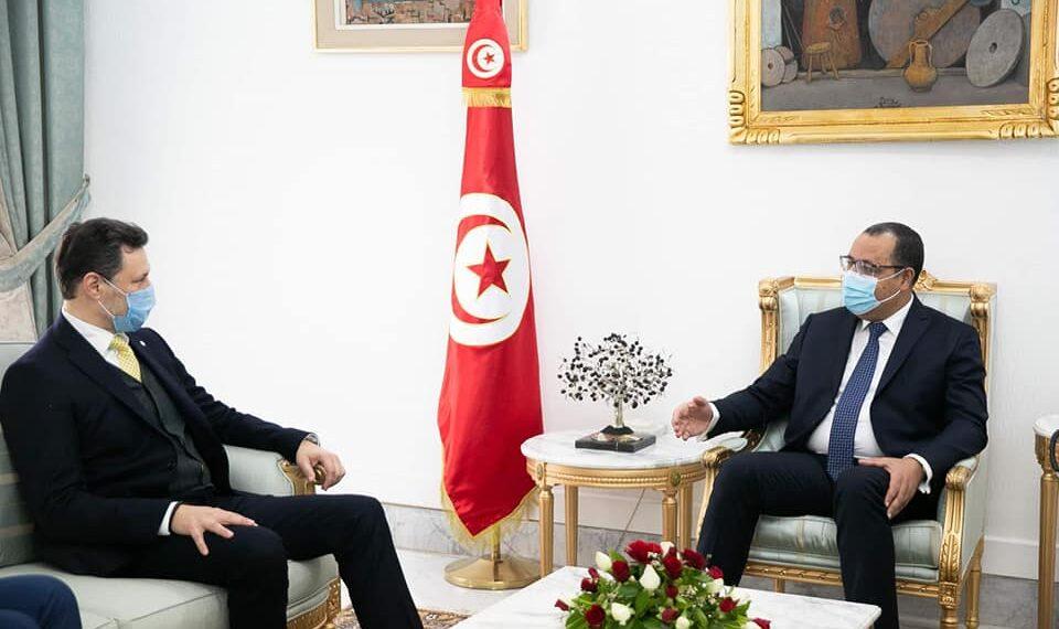 رئيس الحكومة يتحادث مع المنسق المقيم للأمم المتحدة بتونس