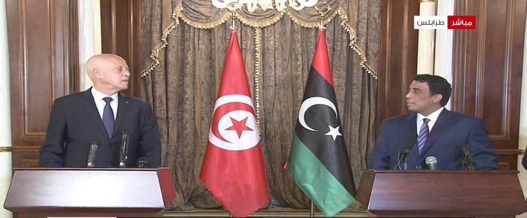 """قيس سعيد :""""حان الوقت لتجاوز أسباب الجفاء بين العلاقات التونسية –الليبية """""""