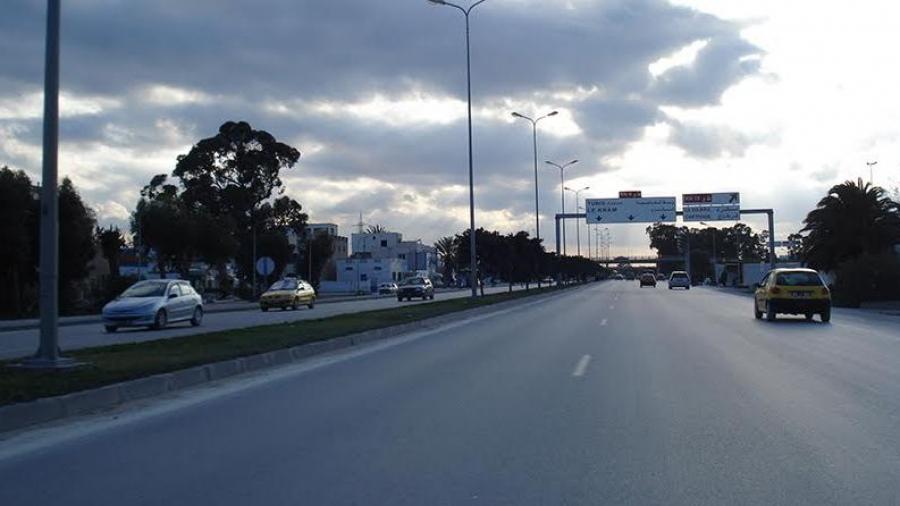 تحويل جزئي لحركة المرور بالطريق الوطنية رقم 9 بولاية تونس