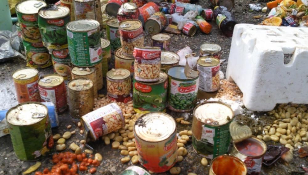 حجز 17 طنا من المواد الغذائية الفاسدة