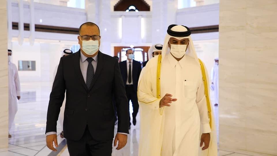 تدعيم التعاون في مختلف المجالات محور لقاء رئيس الحكومة برئيس مجلس الوزراء ووزير الداخلية القطري
