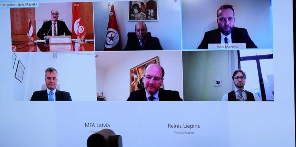 انعقاد الدورة الأولى للمشاورات السياسية بين تونس ولاتفيا