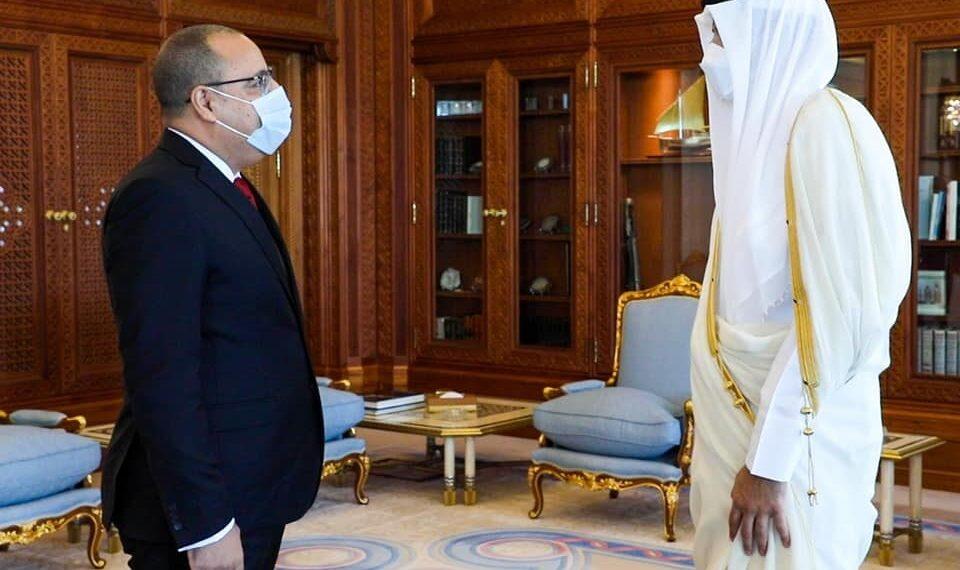 أمير قطر يستقبل رئيس الحكومة هشام المشيشي