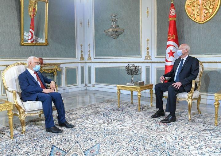 رئيس الجمهورية يلتقي رئيس مجلس نواب الشعب