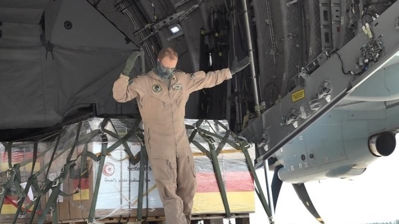 وصول طائرة عسكرية ألمانية محملة بالمساعدات الطبية إلى تونس