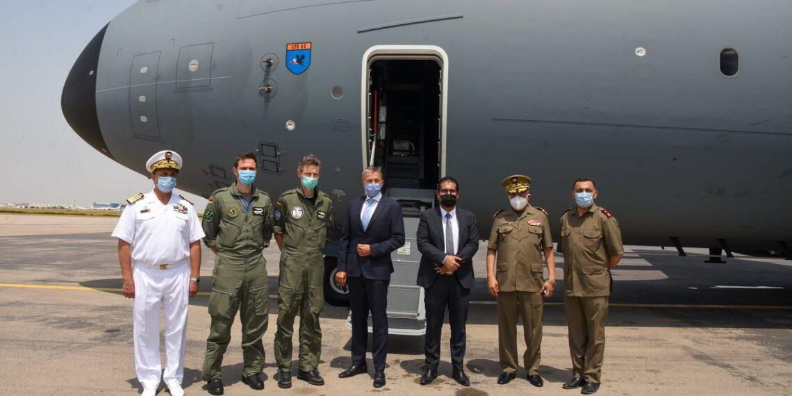 وصول طائرة عسكرية المانية محملة بمستلزمات طبية  الى تونس