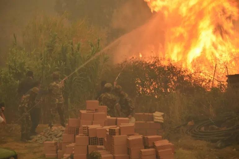 ارتفاع عدد قتلى حرائق الغابات في الجزائر إلى 42