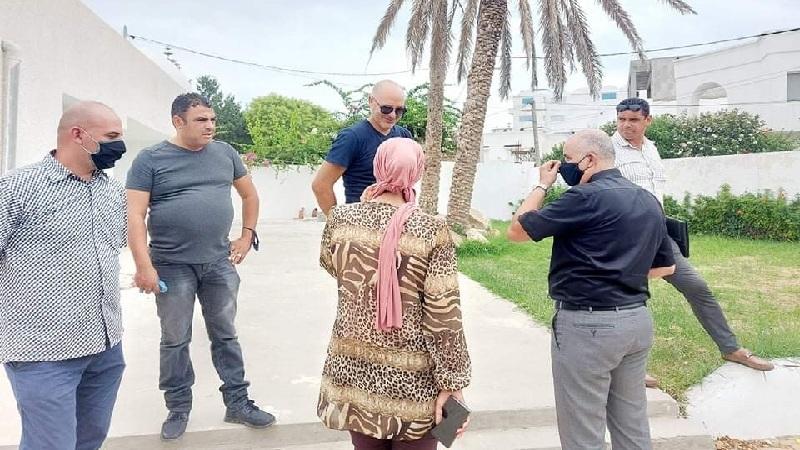تنفيذ قرار إخلاء عقار دولي بالمنطقة السياحية بقليبية