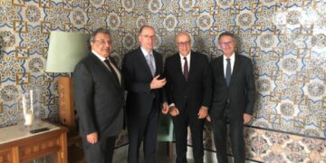 محافظ البنك المركزي يلتقي نائب وزير الخارجية الألماني